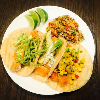 Trader Joe's Trick #7: Fish Tacos Three Ways & Chimichurri Rice