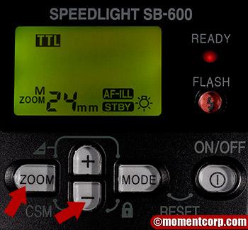 SB-600 setup