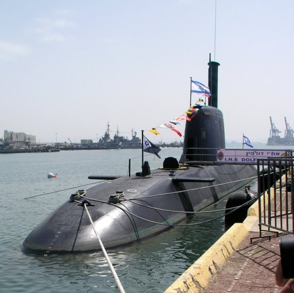 Israel has purchased five German-made Dolphin submarines and has a sixth on order.