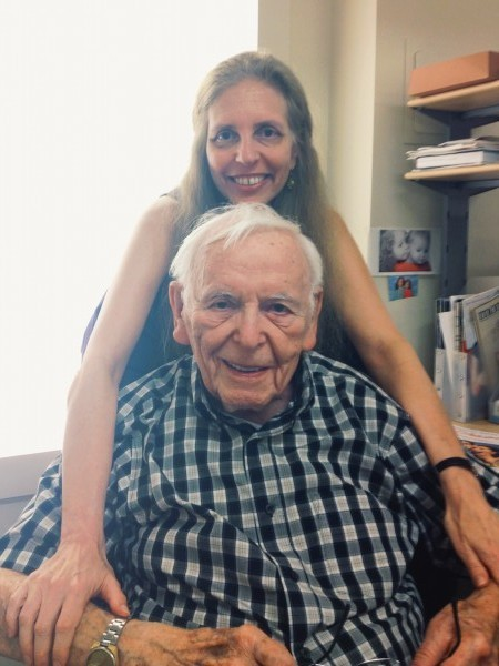 Nadine Epstein and her father