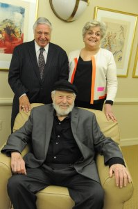 Celebration Committee Co-Chairs Rabbi Harold S. White, Gwen Zuares and Theo Bikel on Nov. 14, 2014