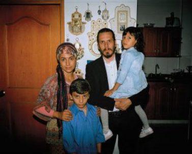 Elad Villegas with his family in Bello. Mateo Gomez Garcia/The California Sunday Magazine