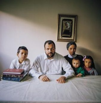 Shlomo Caro and his family in Israel, where they now live. Michal Chelbin/The California Sunday Magazine