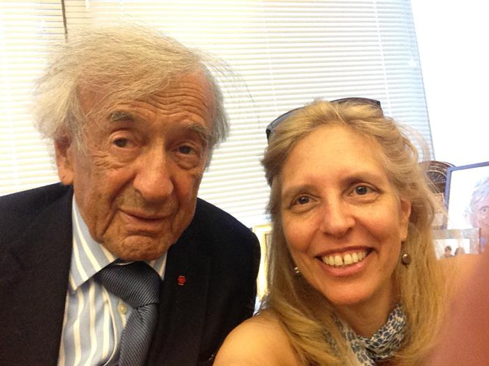Nadine Epstein with Elie Wiesel