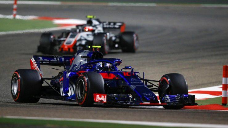 Pierre Gasly durante el GP de Bahrein en 2018// Fuente: @F1