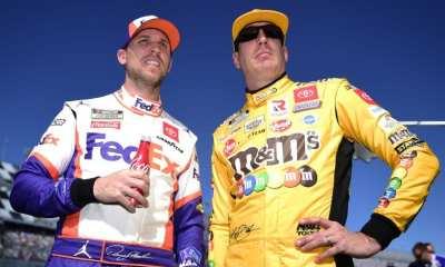 Busch y Hamlin antes de la disputa del Busch Clash at Daytona