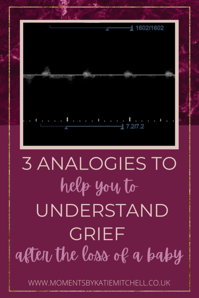 3 analogies to help you to understand grief after the loss of a baby - Pinterest Pin