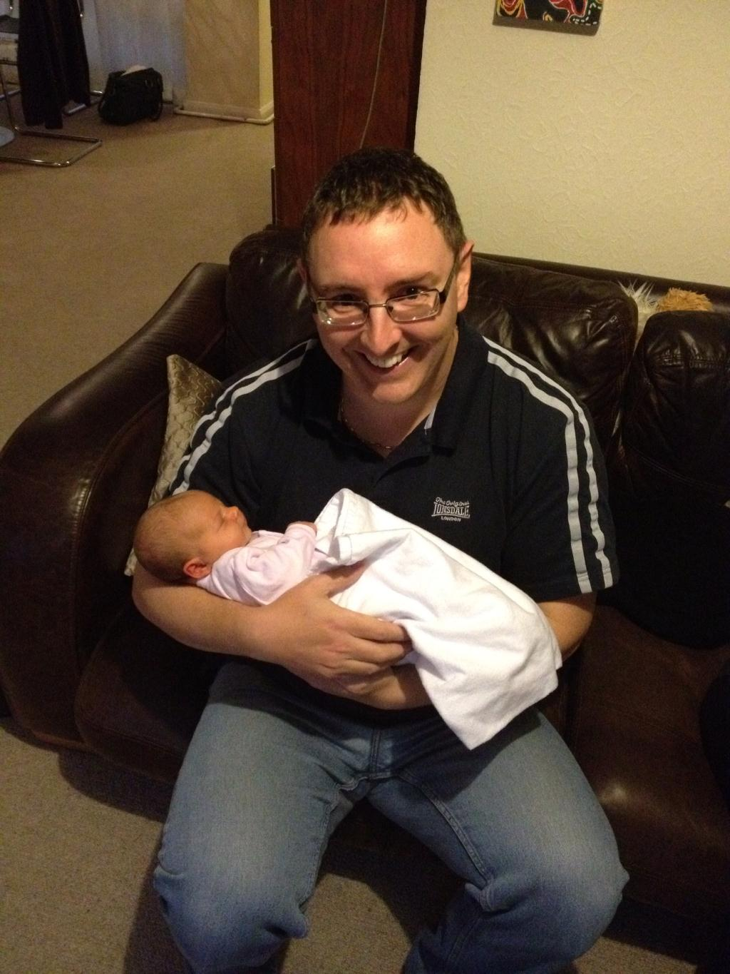 Uncle Chris with little Alice