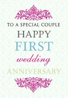 Happy 1st Anniversary Mr & Mrs Idowu