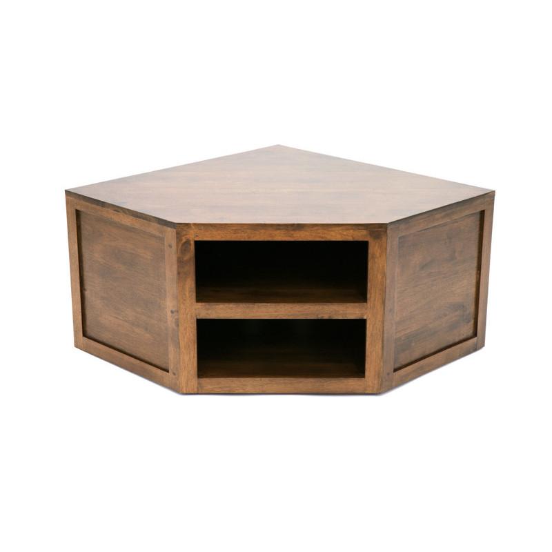 meuble tv de coin couleur hevea browncm matiere hevea dimension 107x42x84