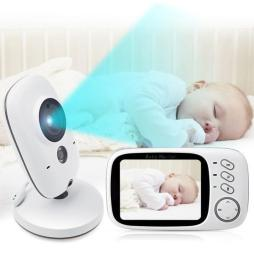 Night Vision 2-Way Video Baby Monitor with Lullabies