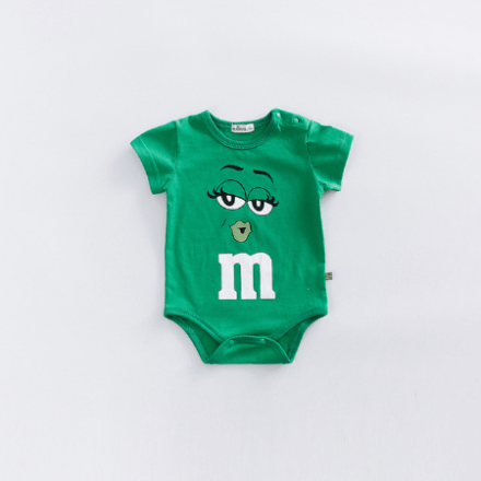 M&M GreenRompers Short-Sleeve Red