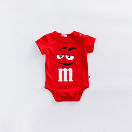 M&M Rompers Short-Sleeve Red