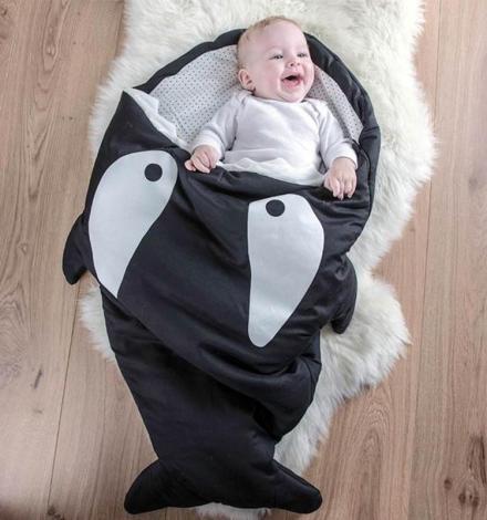 Baby Cartoon Shark Sleeping Bag