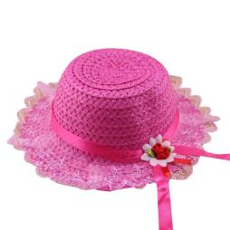 Baby Flower Summer Hat with Lace