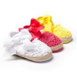 Baby Girls Knitted Shoes with Bow