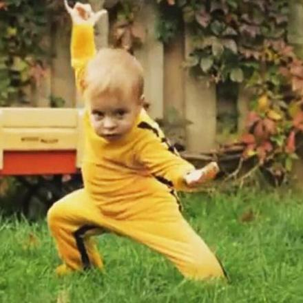 Yellow Baby Kung-Fu Costume