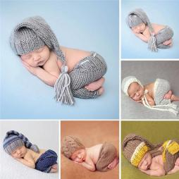 Baby Long Handmade Knitted Soft Hat