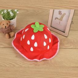 Baby Strawberry Summer Bucket Hat