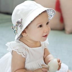 Baby Two Sided Bucket Hat with Bowknot