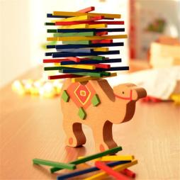 Colorful Wooden Balancing Blocks Toy