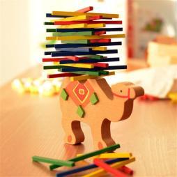 Colorful Wooden Balancing Blocks Toy