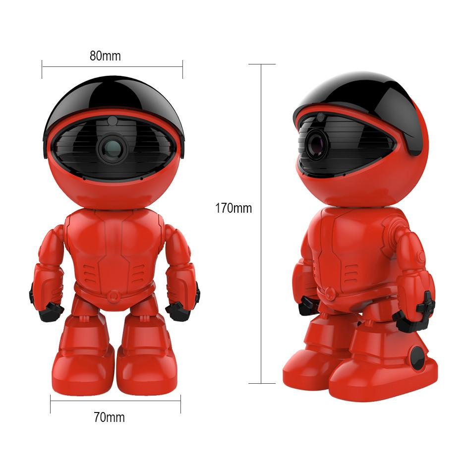 Red Robot Baby Monitor Size