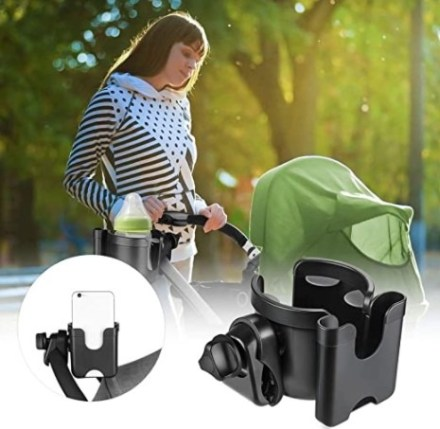 Cup and Phone Holder for Stroller