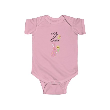 My First Easter Baby Bodysuit Pink