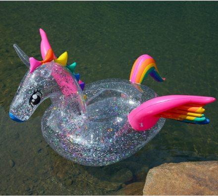 XXL Ride-On Inflatable Unicorn Pool Float