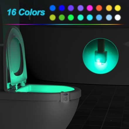 Smart LED Toilet Seat Lighting with Motion Sensor and UV Disinfection