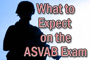 What to Expect on the ASVAB Exam. The ASVAB exam contains 10 sections: General Science, Arithmetic Reasoning, Word Knowledge, Paragraph Comprehension, Mathematics Knowledge, Electronics Information, Automotive and Shop Information, Mechanical Comprehension, Verbal Expression and Assembling Objects. The ASVAB includes a total of 145 questions and takes a total of 3 hours to complete.