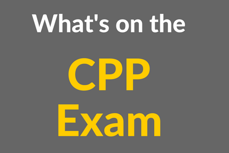 What's on the CPP Exam [Infographic]