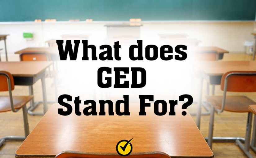 What does GED Stand For?