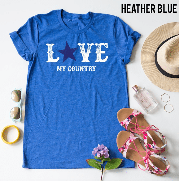 cute Fourth of July tees from Love My Country Tees!