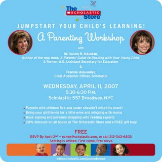 April Event: FREE  Parenting Workshop at Scholastic