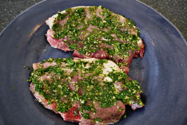 How to Make an Easy Garlicky Chimichurri Sauce - Recipe based on an elevator conversation with my elderly neighbor- olive oil, garlic, fresh parsley & moren Easy Garlicky Chimichurri Sauce