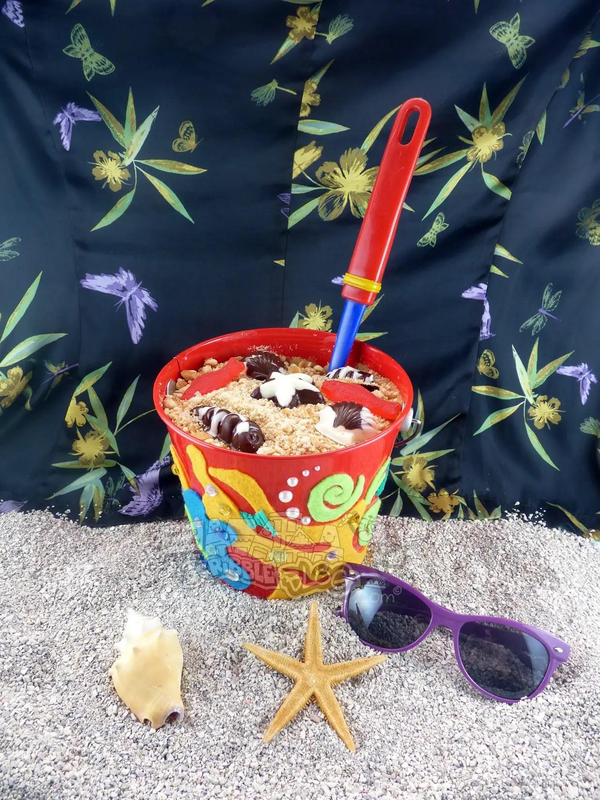 Family Activity Decorative Beach Cake Recipe