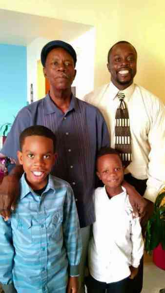 My dad, brother & sons