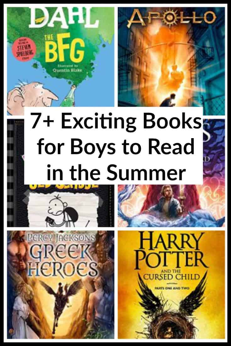 7+ Exciting Books for Boys to Read in the Summer: If you have boys ages 9 to 12, then you will appreciate these picks from boys to boys!
