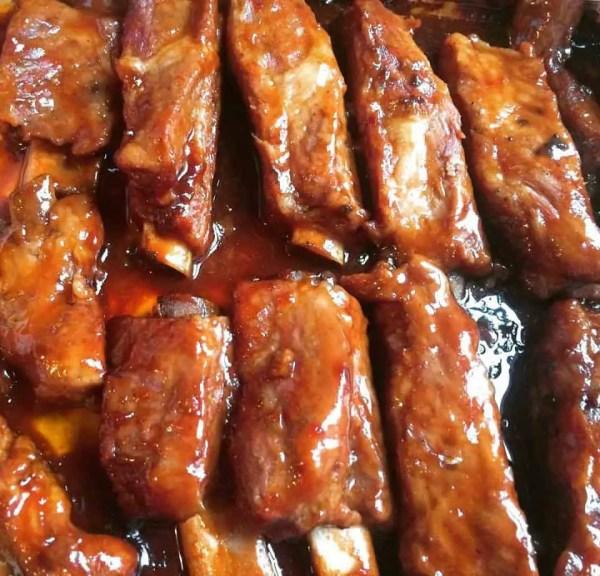 easy oven baked barbecue teriyaki ribs recipe