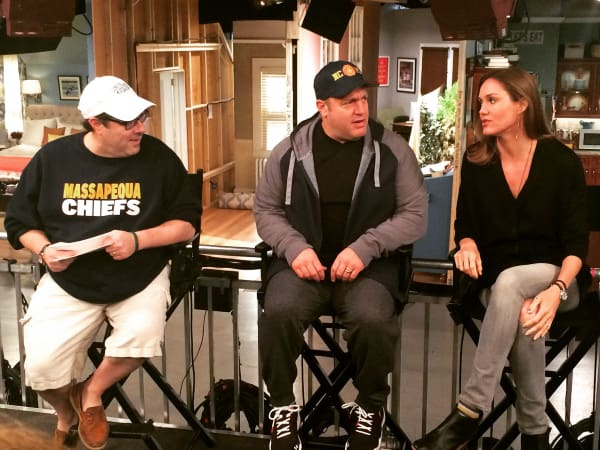 going behind the-scenes and meeting the Kevin Can Wait sitcom cast