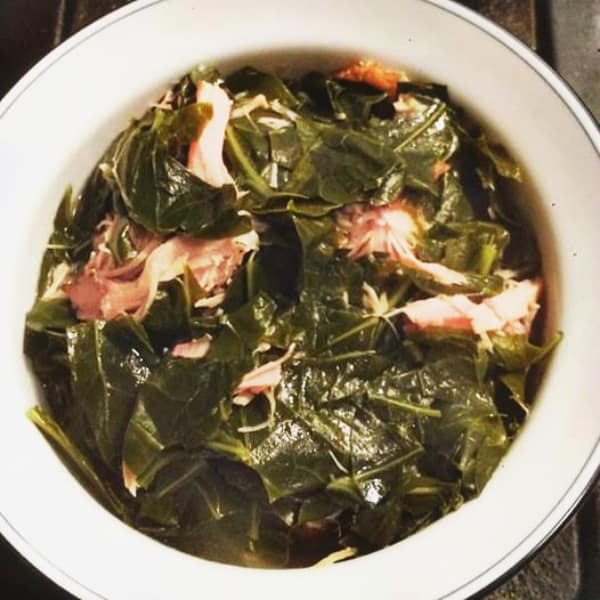 Southern Collard Greens with Smoked Turkey Wings Recipe