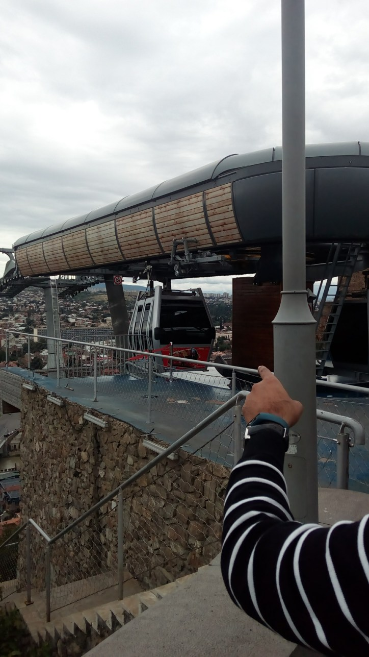 Cable Car Tbilisi at the top station
