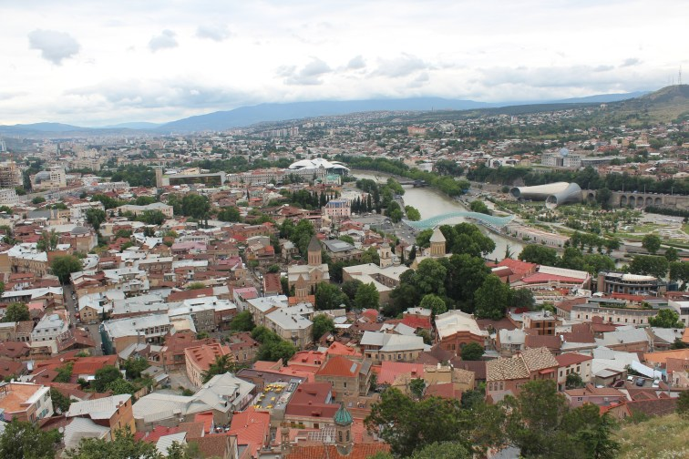 View from the top of Narikala Fortress
