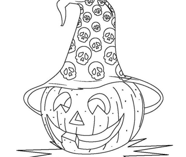 Top  Free Printable Halloween Pumpkin Coloring Pages Online