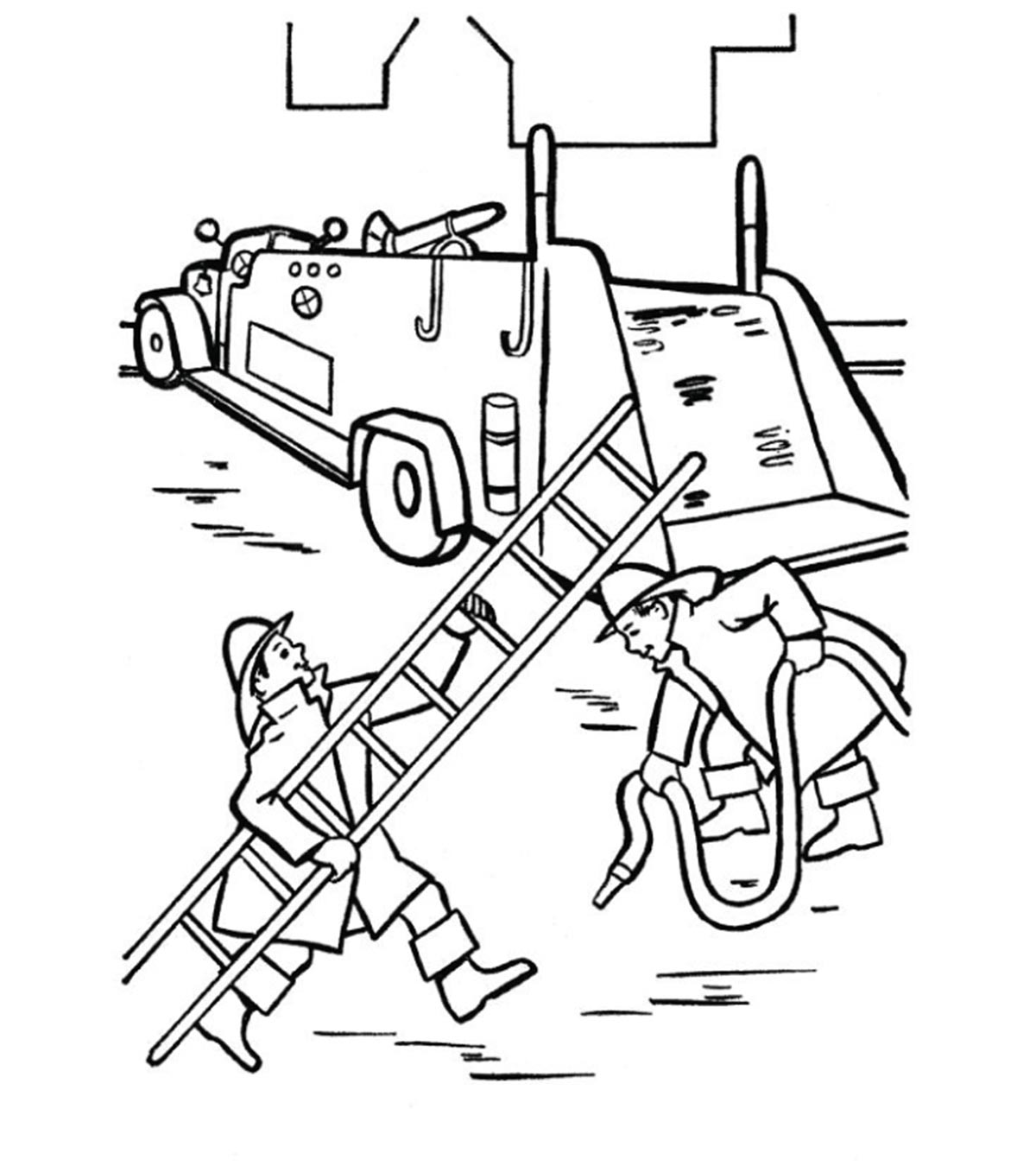 Firefighter Coloring Page Free Download
