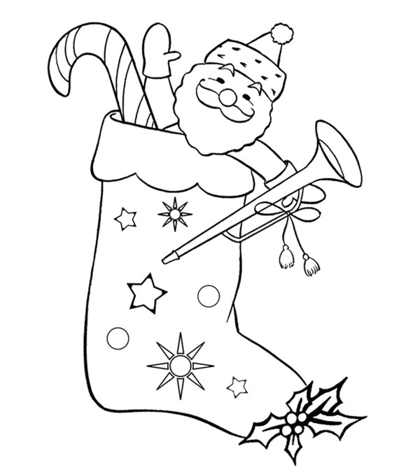 stocking coloring pages # 10