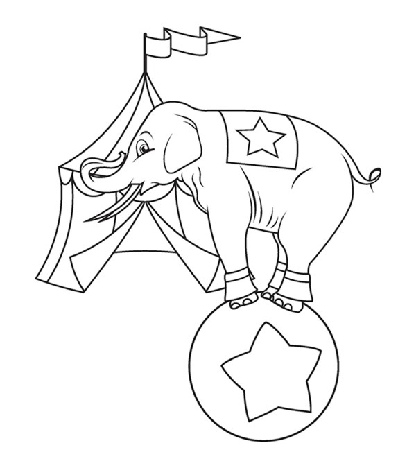 coloring pages elephant # 16