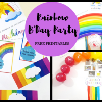 How to plan a budget-friendly Rainbow Themed B'day Party - Free Printables